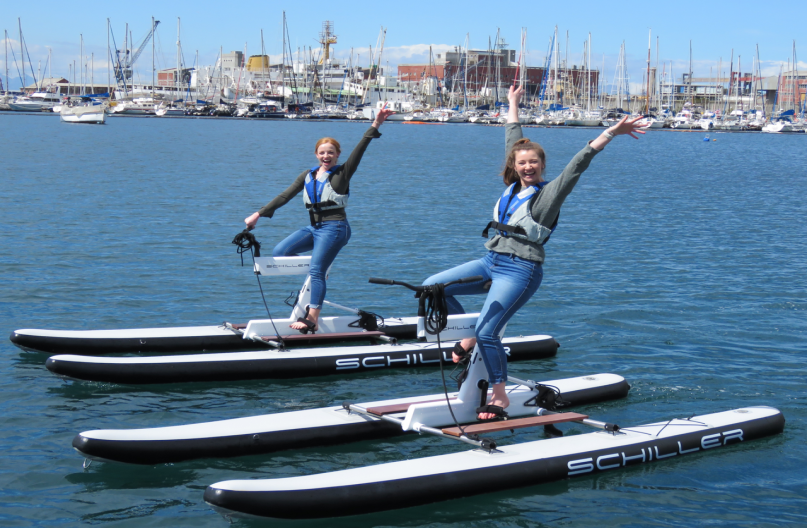 water bikes, cape canals, cape town